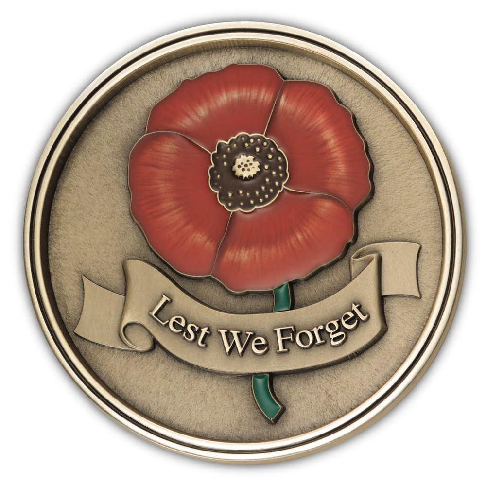 Lest We Forget Medallion