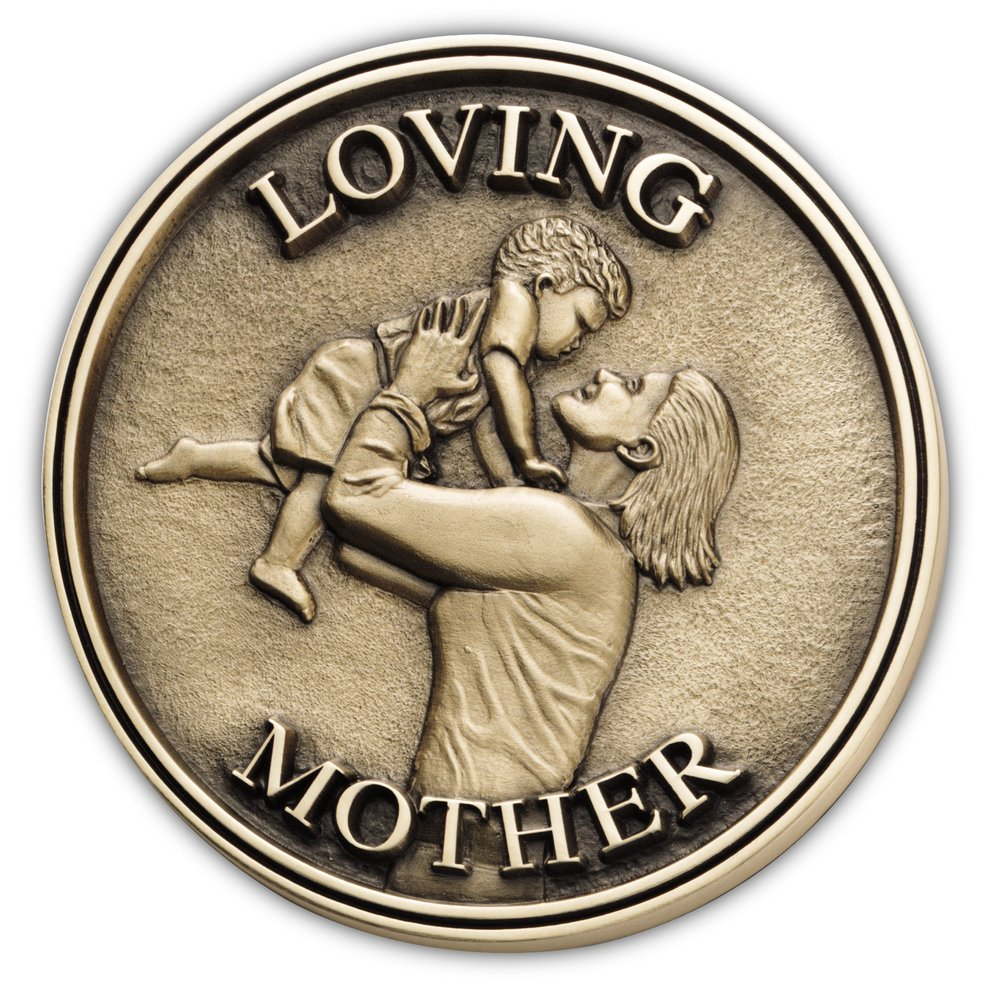 Casket and Urn Accessories > Loving Mother Medallion   Funeral H