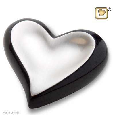 Brushed Pewter Midnight (Keepsake Heart)