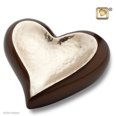 Hammered Gold Bronze (Keepsake Heart)